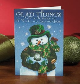 "HOLIDAY 'GLAD TIDINGS"" SNOWMAN CHRISTMAS CARD"