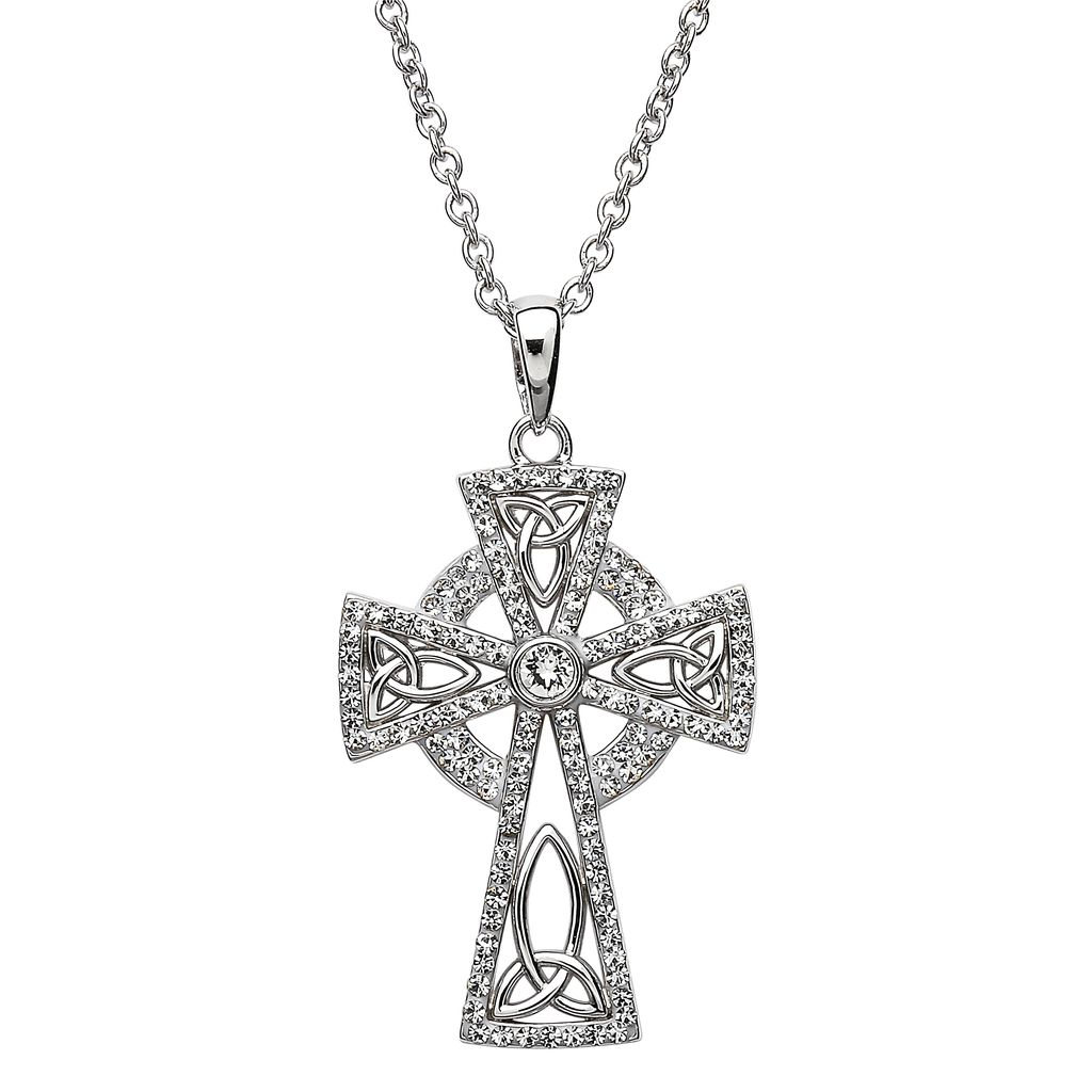 oxidized product celtic necklace silver double cross sided mens eu