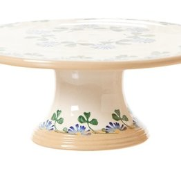 "KITCHEN & ACCESSORIES NICHOLAS MOSSE 9"" FOOTED CAKE PLATE - CLOVER"
