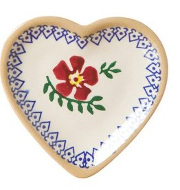 KITCHEN & ACCESSORIES NICHOLAS MOSSE TINY HEART PLATE - OLD ROSE