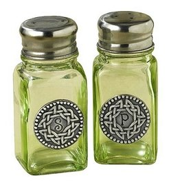 KITCHEN & ACCESSORIES GREEN CELTIC KNOT SALT & PEPPER SHAKER SET