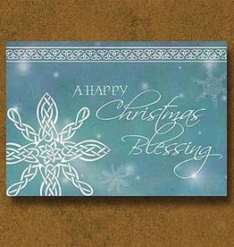 CARDS CHRISTMAS CARD SNOWFLAKE CELTIC KNOT