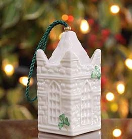 HOLIDAY ST. PATRICK'S BELL BELLEEK ORNAMENT