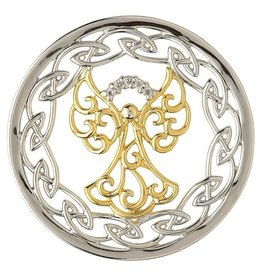 PENDANTS & NECKLACES STERLING SILVER EXPRESSION CELTIC ANGEL COIN