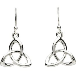 EARRINGS PlatinumWare SMALL TWIST TRINITY KNOT EARRINGS