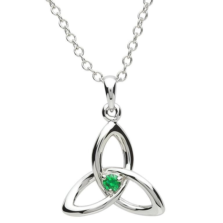 Pendants necklaces platinumware trinity knot with green cz pendant pendants necklaces platinumware trinity knot with green cz pendant aloadofball Image collections