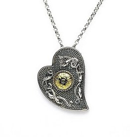 PENDANTS & NECKLACES BORU STERLING & 18K CELTIC WARRIOR HEART PENDANT