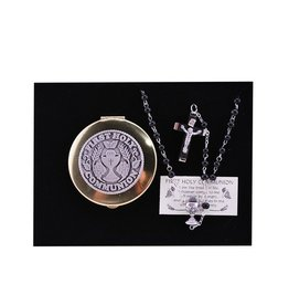 RELIGIOUS BOYS COMMUNION ROSARY & KEEPSAKE BOX