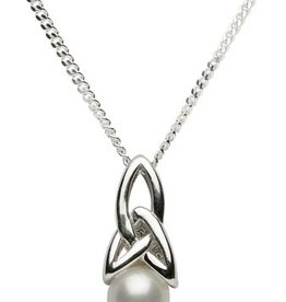 PENDANTS & NECKLACES STERLING SILVER TRINITY PEARL PENDANT