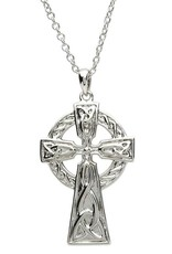 "CROSSES PlatinumWare LARGE CELTIC CROSS with 20"" CHAIN"
