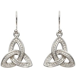 EARRINGS CLEARANCE - SHANORE STERLING PAVE TRINITY EARRINGS - FINAL SALE
