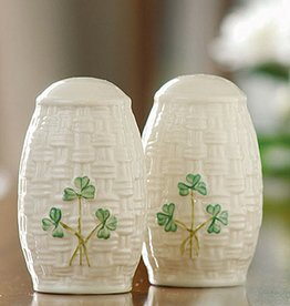 TEAPOTS, MUGS & ACCESSORIES BELLEEK SHAMROCK SALT & PEPPER