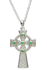 CROSSES PlatinumWare CELTIC CROSS WITH GRN CZ