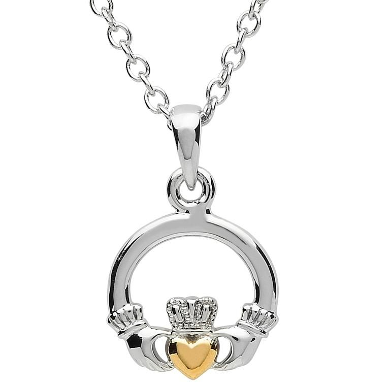 gold heart platinumware plated claddagh pen with pendant necklaces small pendants