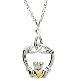PENDANTS & NECKLACES PlatinumWare CLADDAGH & TRINITY PENDANT