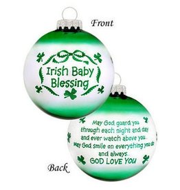 ORNAMENTS IRISH BABY BLESSING ORNAMENT
