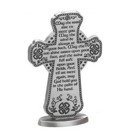 "CROSSES MAY THE ROAD RISE 3"" PEWTER CROSS"