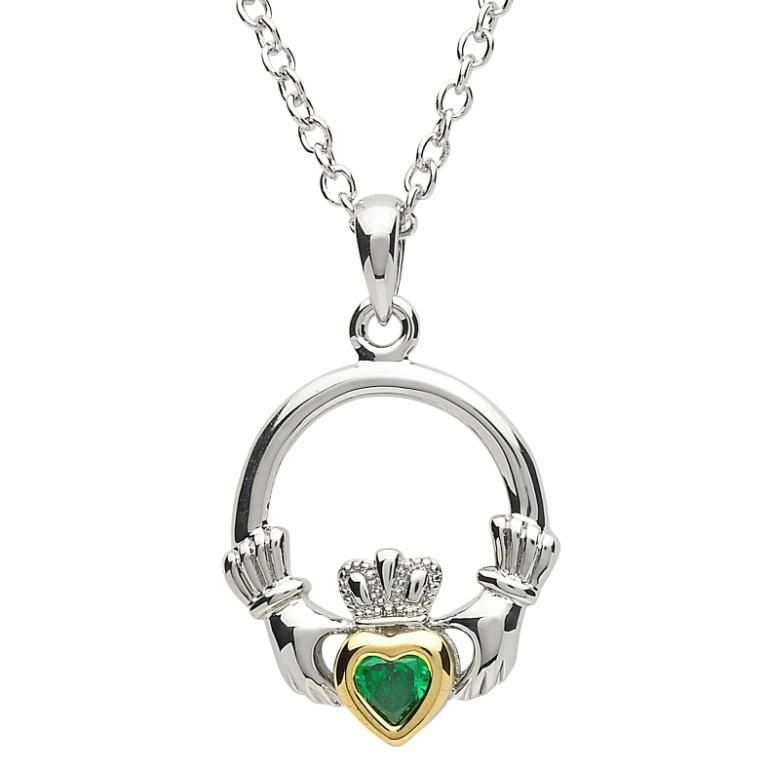 Pendants necklaces platinumware green cz gold plate claddagh pendants necklaces platinumware green cz gold plate claddagh pendant aloadofball Image collections