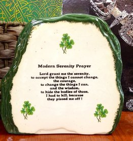 "RELIGIOUS LARGE ""MODERN IRISH"" SERENITY PRAYER STONE"