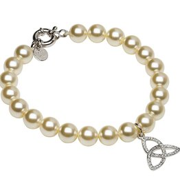 BRACELETS & BANGLES SHANORE STERLING PEARL TRINITY BRACELET with SWAROVSKI CRYSTALS