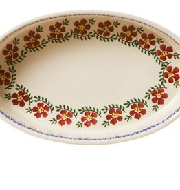 KITCHEN & ACCESSORIES NICHOLAS MOSSE MEDIUM OVAL OVEN DISH - OLD ROSE