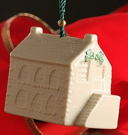ORNAMENTS OLD SCHOOLHOUSE BELL BELLEEK ORNAMENT