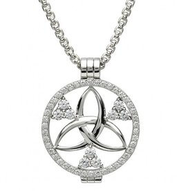 PENDANTS & NECKLACES STERLING SILVER EXPRESSIONS ETERNAL TRINITY CZ COIN