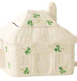TEAPOTS, MUGS & ACCESSORIES BELLEEK IRISH COTTAGE TEAPOT