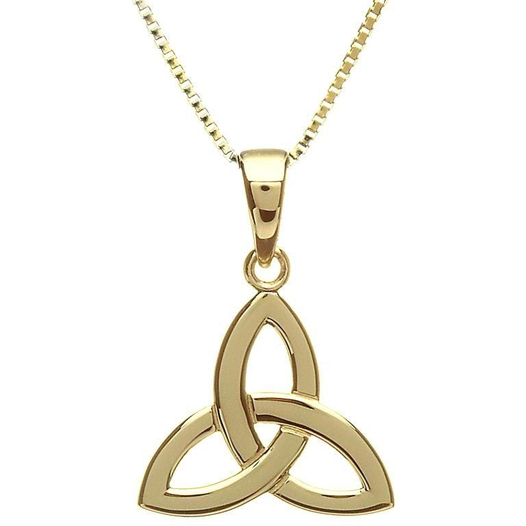 Pendants necklaces 10k gold trinity knot pendant irish crossroads pendants necklaces 10k gold trinity knot pendant aloadofball Image collections