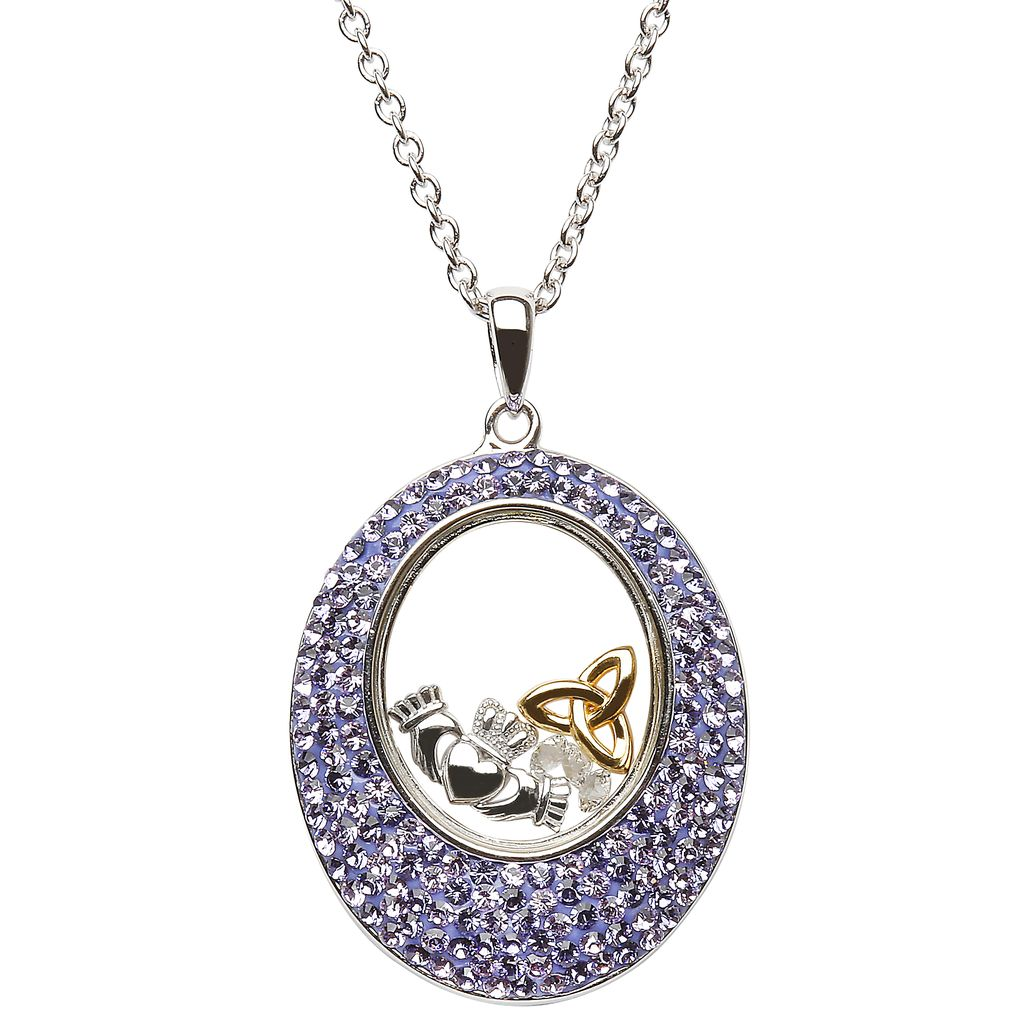 Pendants necklaces shanore sterling oval tanzanite pendant with pendants necklaces shanore sterling oval tanzanite pendant with swarovski crystals aloadofball Gallery