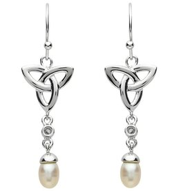 EARRINGS PlatinumWare PEARL TRINITY EARRINGS