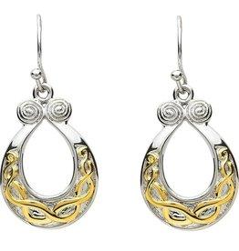 EARRINGS PlatinumWare & GOLD PLATE CELTIC KNOT EARRINGS
