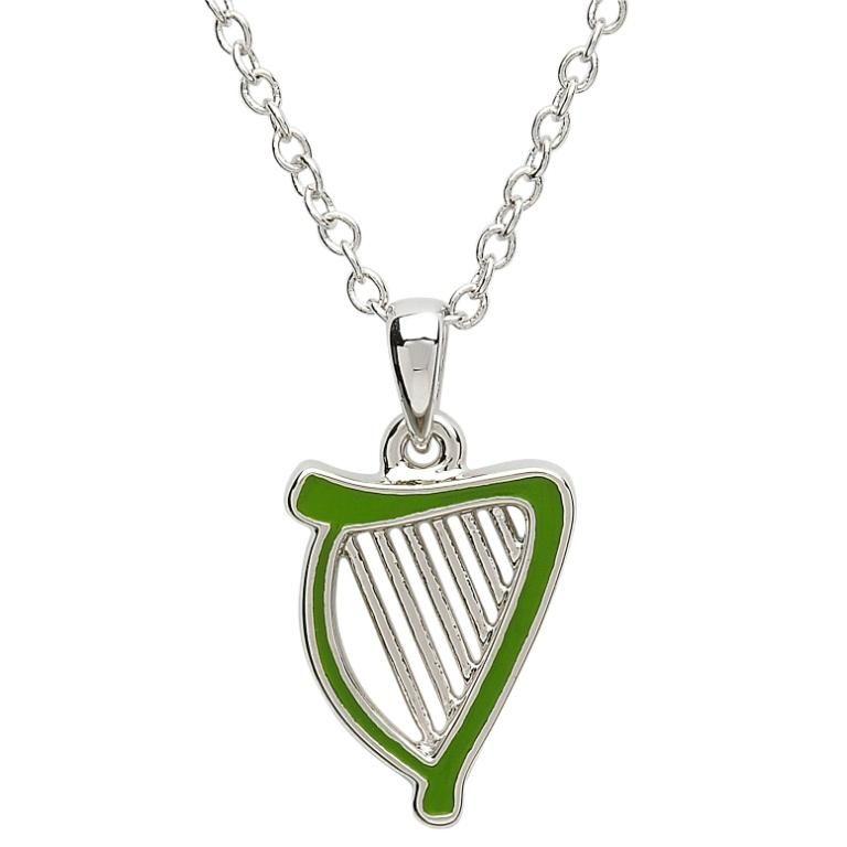Pendants necklaces platinumware green enamel harp pendant irish pendants necklaces platinumware green enamel harp pendant aloadofball Gallery