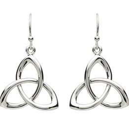 EARRINGS PlatinumWare TWIST TRINITY KNOT EARRINGS