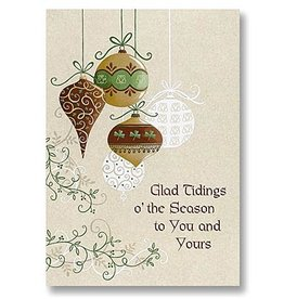 """HOLIDAY """"GLAD TIDINGS"""" CHRISTMAS CARD PACK"""