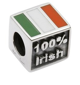 BEADS TARAS DIARY 100% IRISH / BORN IN THE US SQUARE BEAD