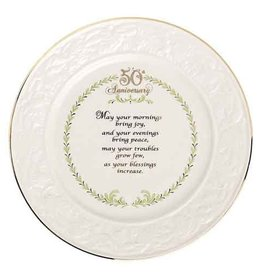 PLATES, TRAYS & DISHES BELLEEK 50TH ANNIVERSARY PLATE