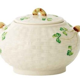 TEAPOTS, MUGS & ACCESSORIES BELLEEK SHAMROCK SUGAR BOWL