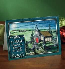 "HOLIDAY ""IRISH CHRISTMAS BLESSING"" CARD"