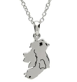 PENDANTS & NECKLACES PlatinumWare MAP OF IRELAND