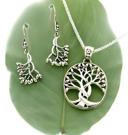 PENDANTS & NECKLACES KEITH JACK STERLING TREE OF LIFE PENDANT