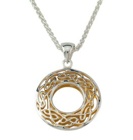PENDANTS & NECKLACES KEITH JACK STERLING & 24K WINDOW TO THE SOUL SML ROUND PENDANT