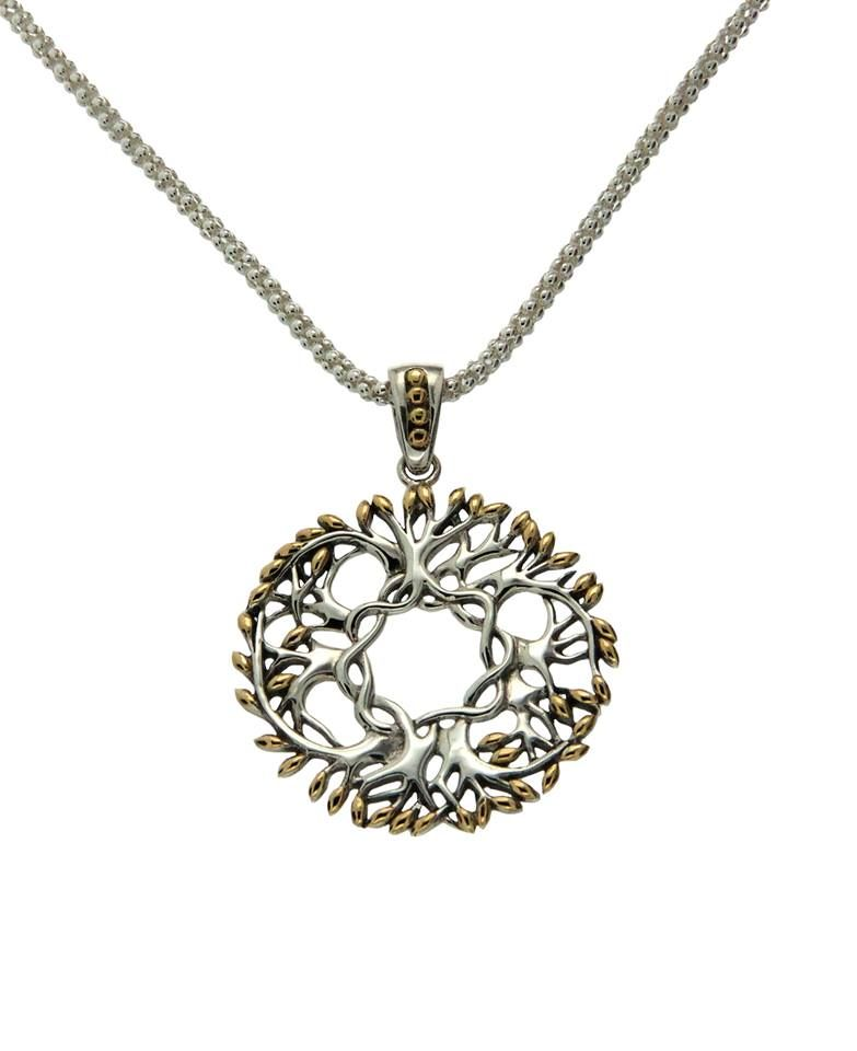 Pendants necklaces keith jack sterling 18k circle tree of life aloadofball Image collections