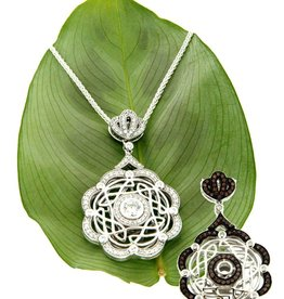 PENDANTS & NECKLACES KEITH JACK STERLING DAY & NIGHT ETERNITY WEAVE PENDANT