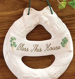 FRAMES & DECOR BELLEEK HOUSE BLESSING WREATH