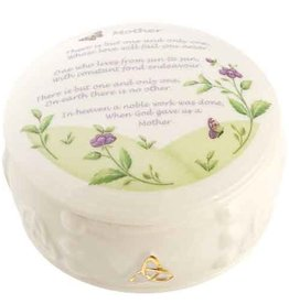 GIFTWARE BELLEEK MOTHER TRINKET BOX