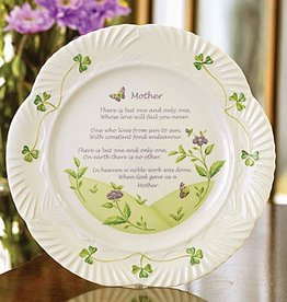 PLATES, TRAYS & DISHES BELLEEK MOTHER'S BLESSING PLATE