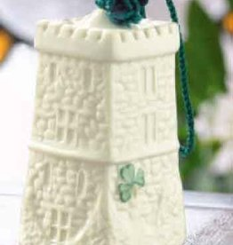 HOLIDAY LISMORE CASTLE BELL BELLEEK ORNAMENT
