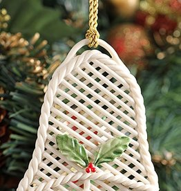 ORNAMENTS BASKET WEAVE BELL SHAPED BELLEEK ORNAMENT