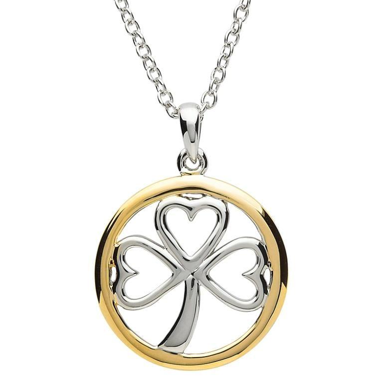 Pendants necklaces platinumware gold plate circle shamrock pendant pendants necklaces platinumware gold plate circle shamrock pendant aloadofball Gallery